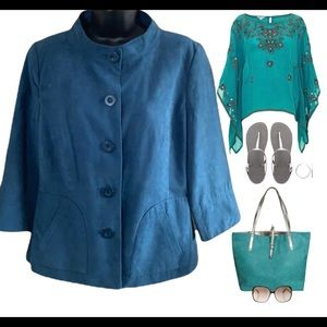 Chapter One faux suede jacket size 10